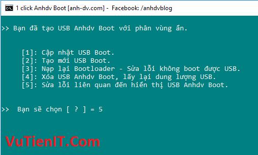 tao usb boot 7