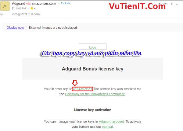 key ban quyen Adguard Premium 4