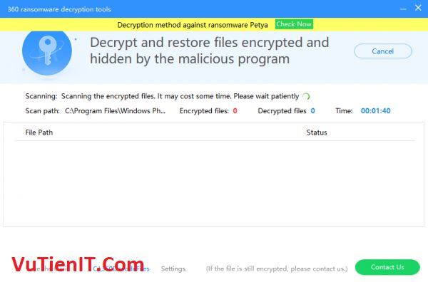 360 Ransomware Decryption Tools giai ma doc