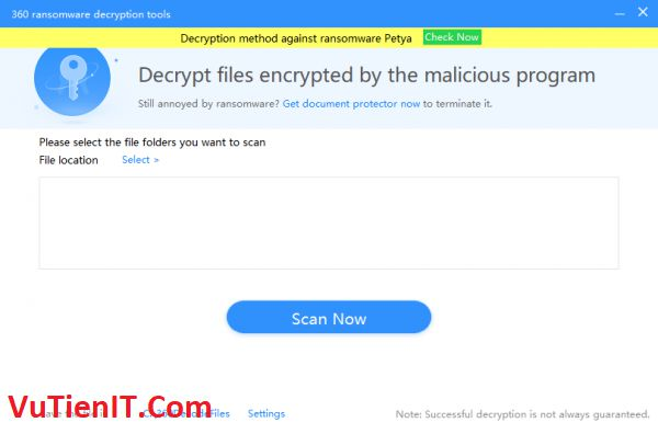 360 Ransomware Decryption Tools
