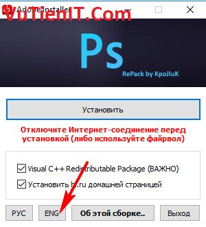 cai dat Photoshop CC 2018