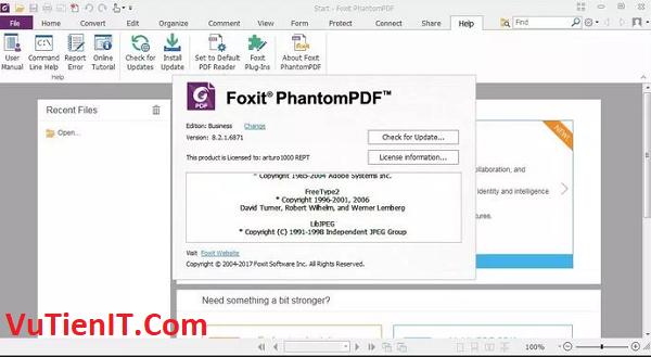 Foxit PhantomPDF Business 9.1 full