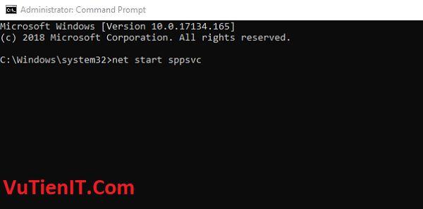 net start sppsvc