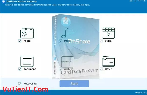7thShare Card Data Recovery 1.3