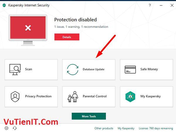 key ban quyen Kaspersky Internet Security 2019 9