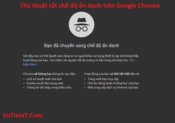 tat cua so an danh google chrome