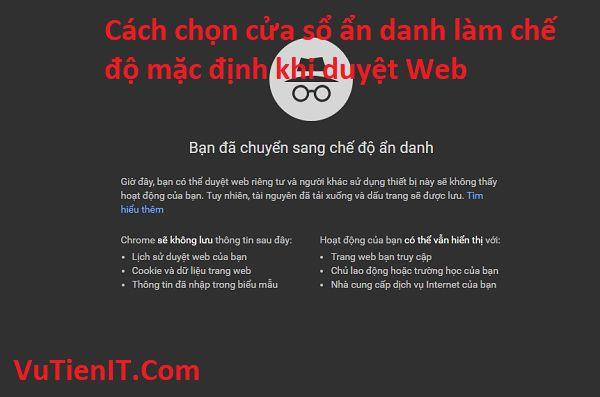 thiet lap che do an danh mac dinh tren web