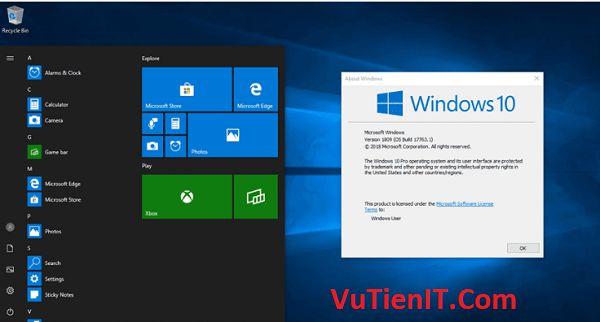 Windows 10 October 2018 lite