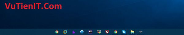 cach dua icons ra giua taskbar tren windows 10