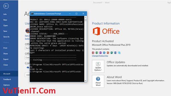 key ban quyen Microsoft Office 2019