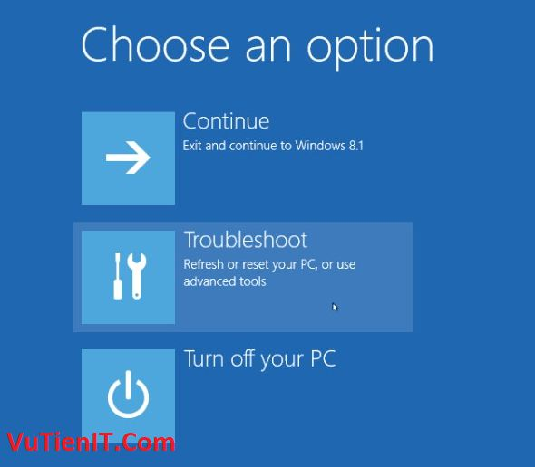 Choose an option windows