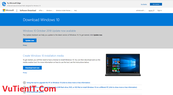 Windows 10 October1809