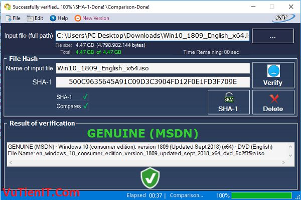Windows and Office Genuine ISO Verifier 3