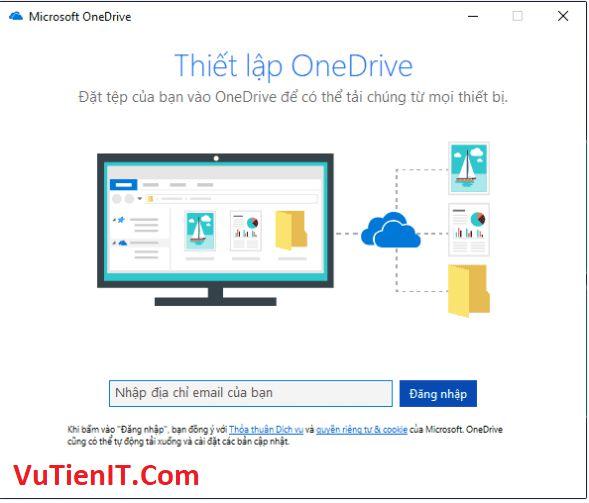chuyen thu muc OneDrive sang phan vung khac 3