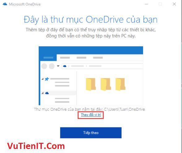 chuyen thu muc OneDrive sang phan vung khac 4