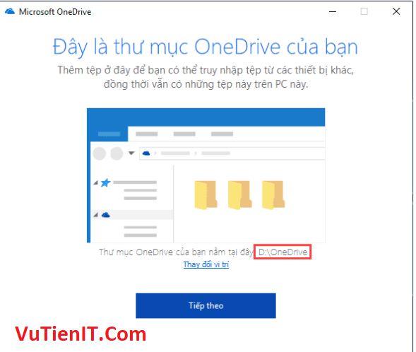 chuyen thu muc OneDrive sang phan vung khac 7
