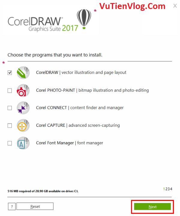 cai dat CorelDraw 2017 5