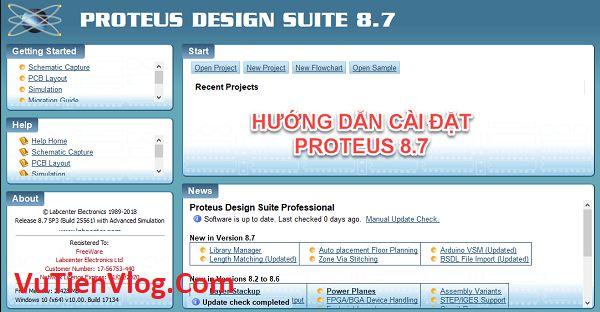 huong dan cai dat Proteus 8.7