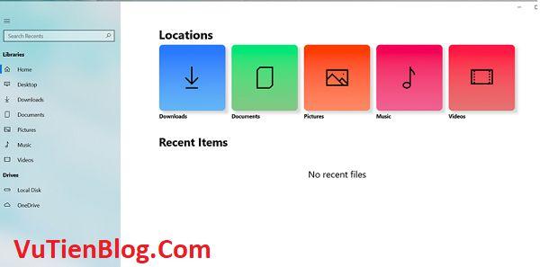 theme Fluent Design Windows File Explorer