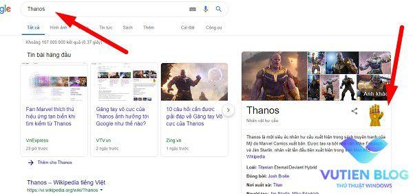 hieu ung Thanos google