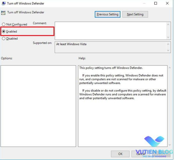 tat Windows Defender Local Group Policy windows 10 2