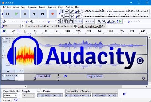 su dung phan mem Audacity 2.3.2