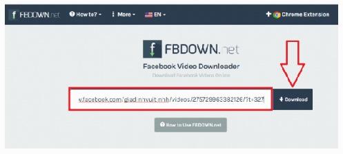 Download video tu facebook