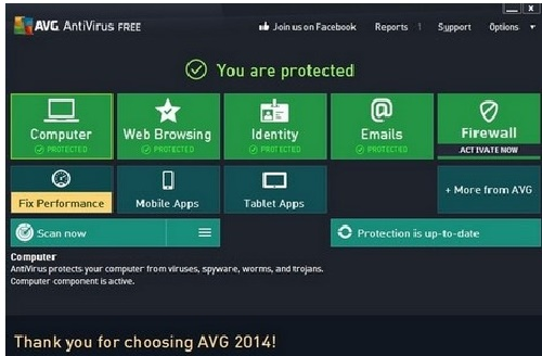 Phan mem diet virus AVG AntiVirus FREE 2019