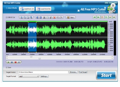 Phan mem cat file MP3 MP3 Cutter 4.3.1