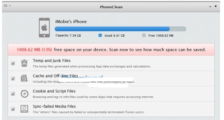 Phan mem don rac tren iphone PhoneClean 5.3.1