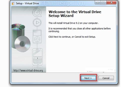 Tao o dia ao bang phan mem Virtual CloneDrive