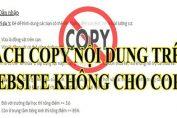 Cach copy tren trang web khong cho copy