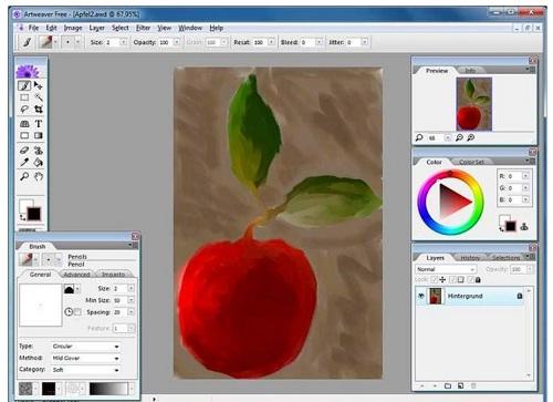 Phan mem chinh sua do hoa Artweaver Plus 7.0