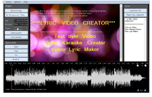 phan mem tao video karaoke Lyric Video Creator Professional