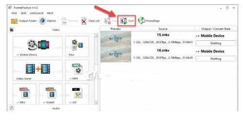 Chuyen doi dinh dang video tu may tinh sang iphone bang Format Factory 4.8