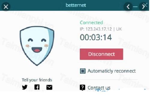 Phan mem vuot tuong lua Betternet VPN 5.3