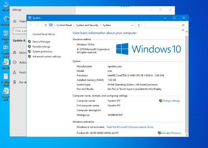 download Windows 10 1909 Lite 32bit 64bit
