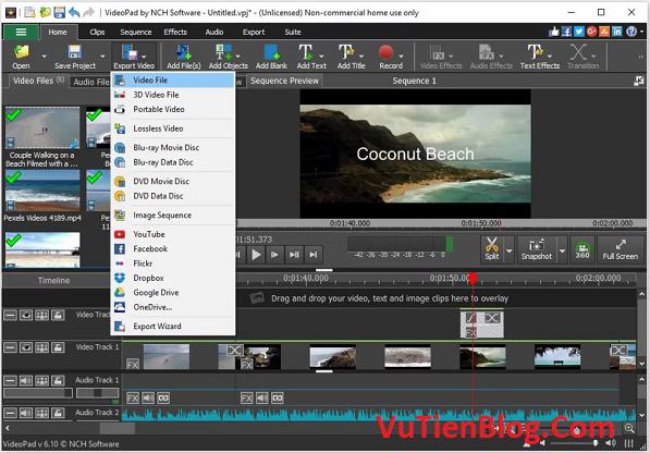 setup VideoPad Video Editor Pro 8