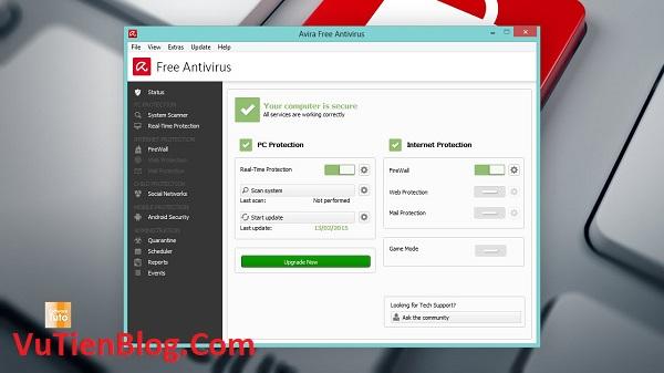 setup Avira Free Antivirus 15