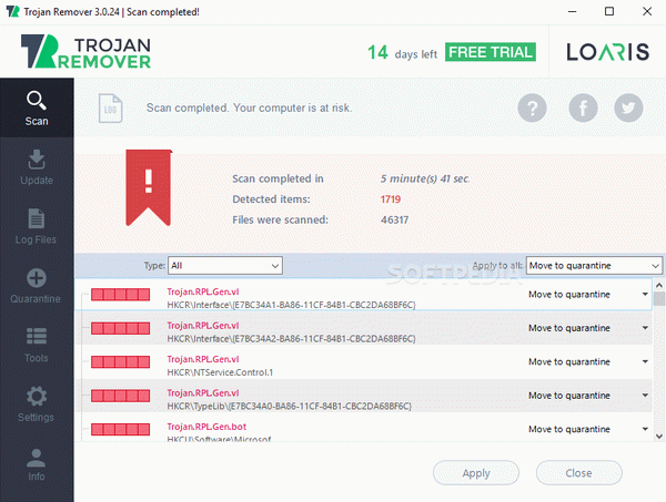 setup Loaris Trojan Remover 3.1