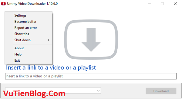 setup Ummy Video Downloader 1.10