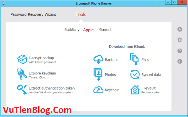 setup Elcomsoft Phone Breaker 9.5